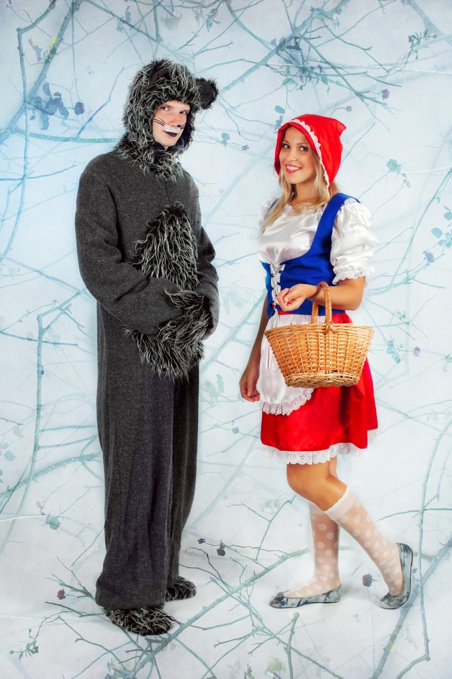 Поздравления волка и красной шапочки